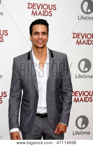 """LOS ANGELES - JUN 17:  Matt Cedeno arrives at the """"Devious Maids""""  Lifetime's Original Series Premiere at the Bel-Air Bay Club on June 17, 2013 in Pacific Palisades, CA"""