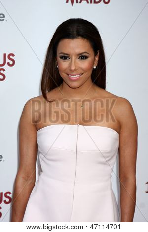 "LOS ANGELES - JUN 17:  Eva Longoria arrives at the ""Devious Maids""  Lifetime's Original Series Premiere at the Bel-Air Bay Club on June 17, 2013 in Pacific Palisades, CA"