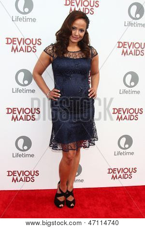 "LOS ANGELES - JUN 17:  Judy Reyes arrives at the ""Devious Maids""  Lifetime's Original Series Premiere at the Bel-Air Bay Club on June 17, 2013 in Pacific Palisades, CA"