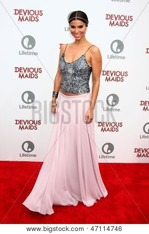 """LOS ANGELES - JUN 17:  Roselyn Sanchez arrives at the """"Devious Maids""""  Lifetime's Original Series Premiere at the Bel-Air Bay Club on June 17, 2013 in Pacific Palisades, CA"""