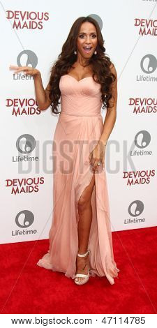 "LOS ANGELES - JUN 17:  Dania Ramirez arrives at the ""Devious Maids""  Lifetime's Original Series Premiere at the Bel-Air Bay Club on June 17, 2013 in Pacific Palisades, CA"