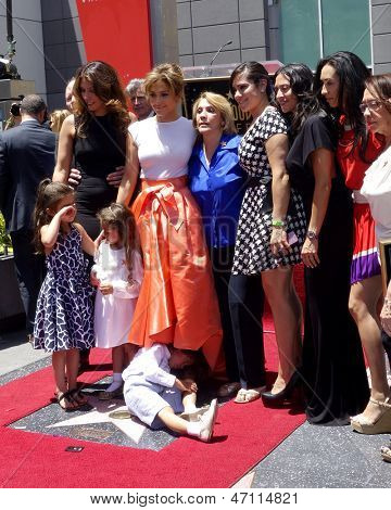 LOS ANGELES - JUN 20:  Jennifer Lopez, Lupe Lopez, Max Anthony, others at the Hollywood Walk of Fame star ceremony for Jennifer Lopez at the W Hollywood Hotel on June 20, 2013 in Los Angeles, CA