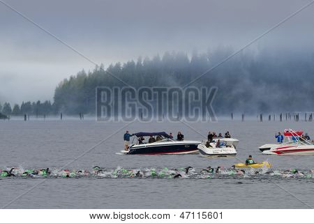 Coeur D' Alene Ironman Swimming Event