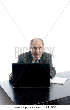 Senior Executive At Desk Successful