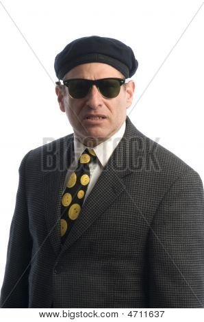 Agent In Sunglasses French Beret