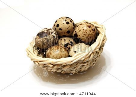 Quail Eggs In The Basket