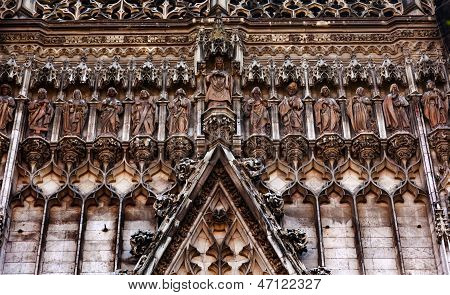 Christ Disciples Statues Facade Cathedral Of Saint Mary Of The See Seville Spain