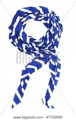Fashionable female scarf isolated on white
