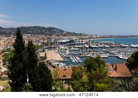 Cannes city view, south of France, summer time