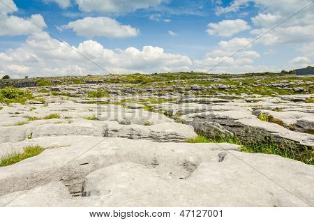 The Burren National Park limestone landscape, Ireland