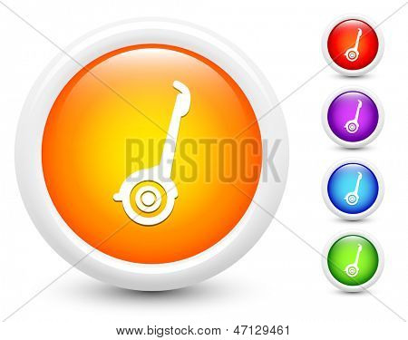 Segway Icons on Round Button Collection Original Illustration