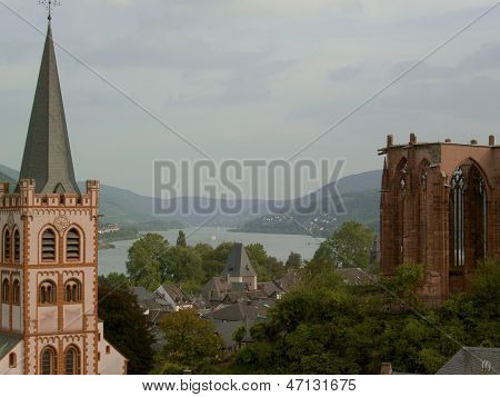Town along the Rhine River, Germany