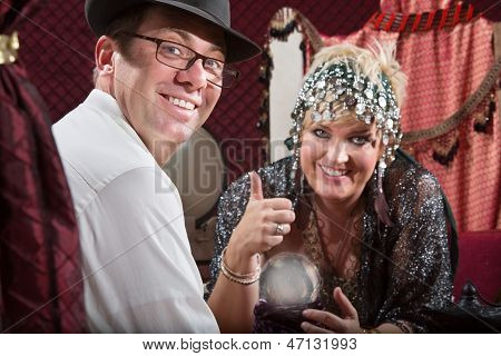 Happy Customer And Fortune Teller
