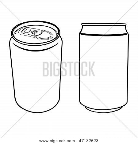 Beverage Can Outline Vector.eps