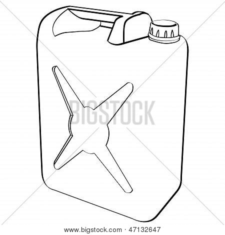 Gas Can Outline Vector.eps