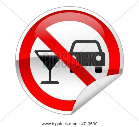 No Drink & Drive Sign