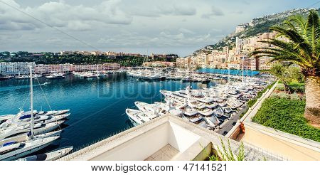 View Of Monaco Harbor