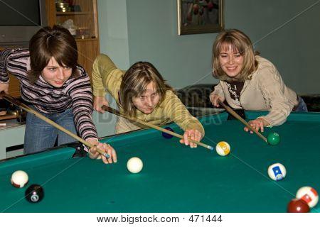 Women Playing Billiards