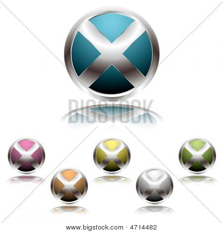 Cross Button Shadow