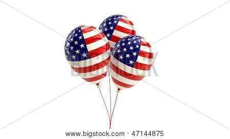 US balloons with American flag design