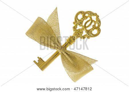 antique golden key