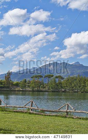 Lake in tuscany