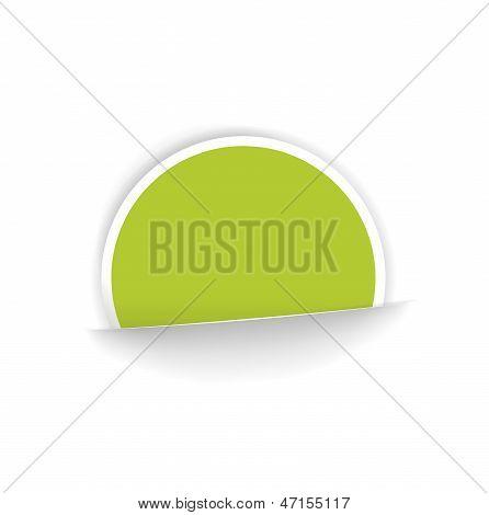 The circle sticker