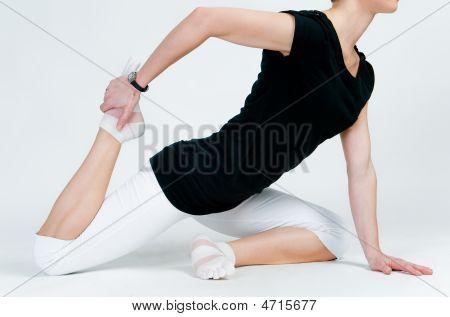 Female Yoga Doing Exercises