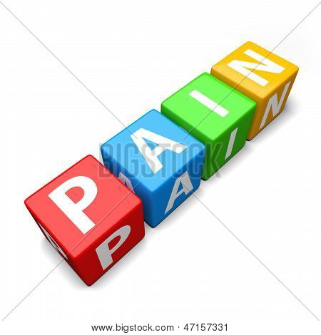 Pain Word Made Of Colorful Toy Blocks
