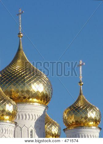 Gold Cupola Bogoyavlensky Monastery