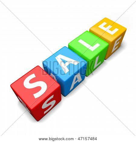Sale Word Made Of Colorful Toy Blocks