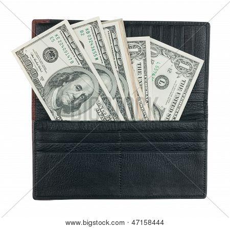 Herrenportemonnaie mit Geld