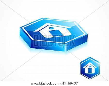 Abstract Blue Home Button