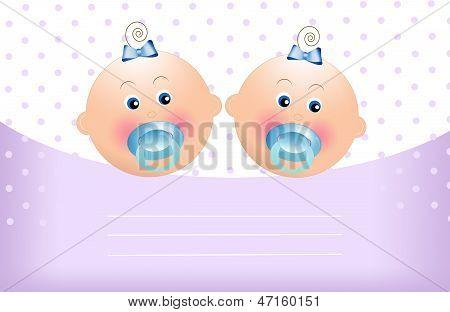 Anúncio de gêmeos