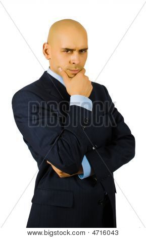 Portrait Of Doubting Businessman