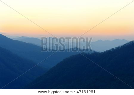 Hazy Blue Ridge Mountains