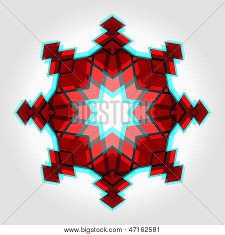 Red Festive Christmas Star
