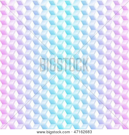 Abstract Neon Cubes Seamless Background