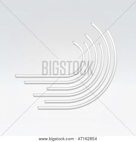 Abstract Wire Wave Icon