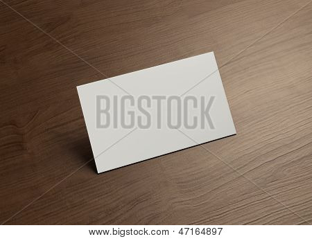 Large Namecard 45Degree Stand Wood