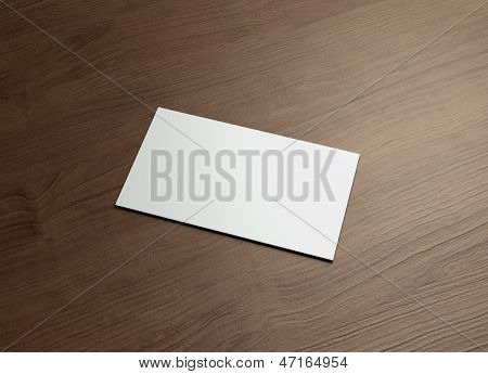 Namecard Horizontal Right Wood