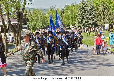 Los cosacos del ejército cosaco Terek.