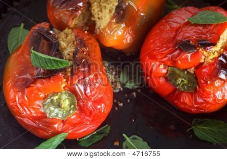 Cous-cous Stuffed Peppers