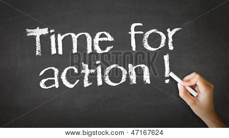 Time For Action Chalk Illustration