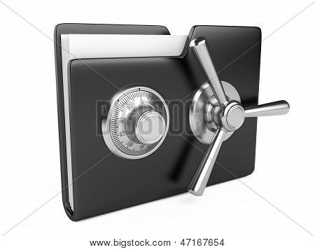 Black Folder And Combination Lock