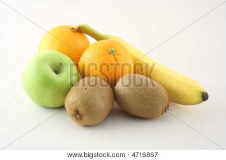 Isolated Fruits On White
