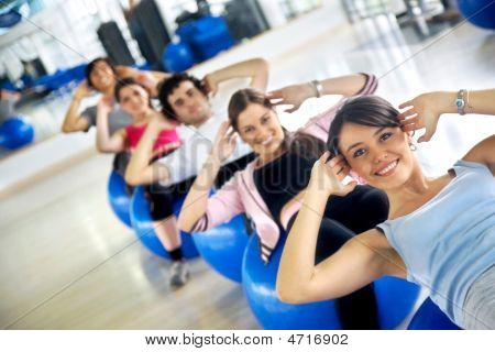 Gym Group Of People