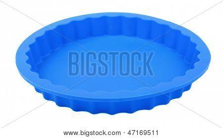 Blue round silicone cake form (Tart Tin).