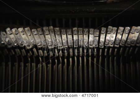 Keys Of Antique Typewriter