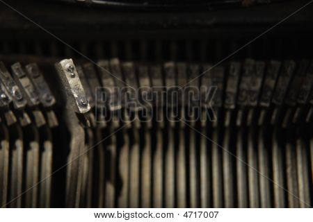 Question Key Of Antique Typewriter